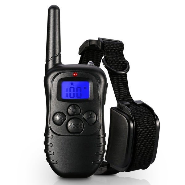 Waterproof 1 in 2 Petrainer Remote Control Electric Anti Bark Training Collar for 2 Dogs 28539244