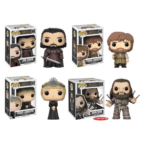Funko POP! Game of Thrones Collectors Set; Jon Snow, Tyrion, Cersei, Wun Wun w/ Arrows 28551190