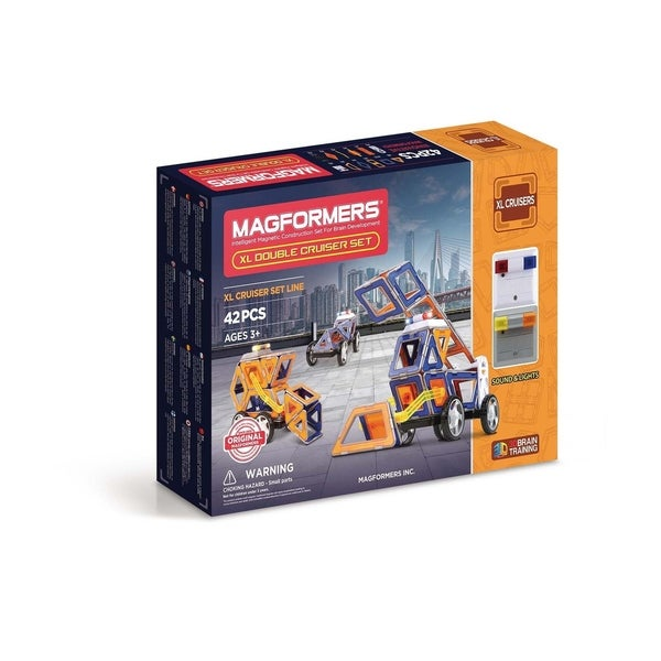 Magformers XL Double Cruiser 42 Piece Magnetic Construction Kit 28552356