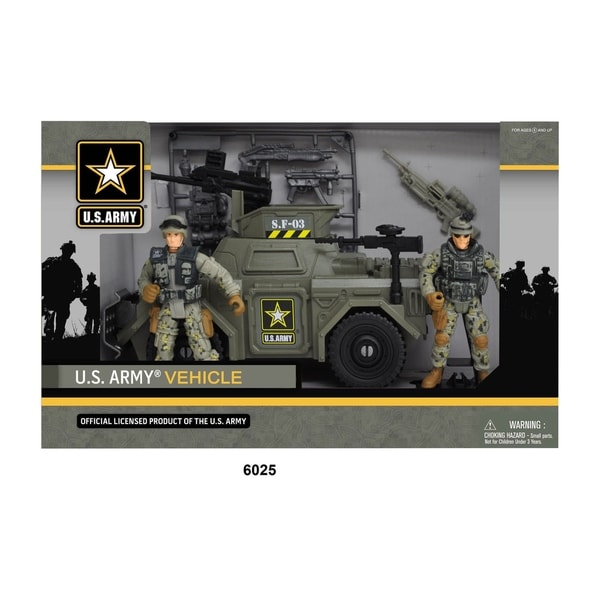 U.S. Army Green Vehicle Playset w/ Soldier Figures 28552439