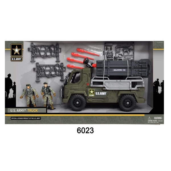 U.S. Army Battery Operated Truck w/ 2 Soldier Figures 28552441