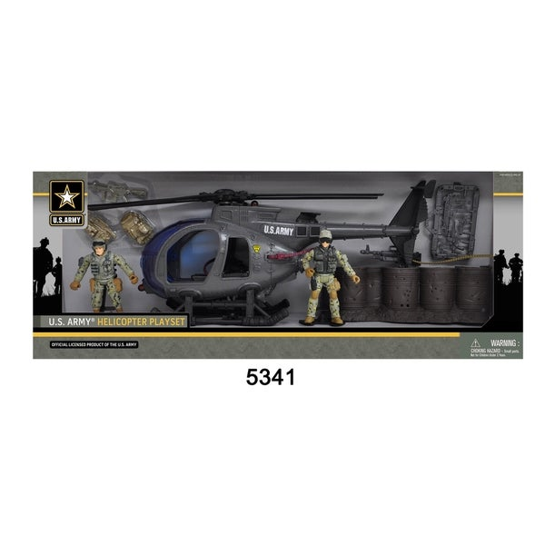 U.S. Army Helicopter Playset w/ 2 Soldier Figures 28552442