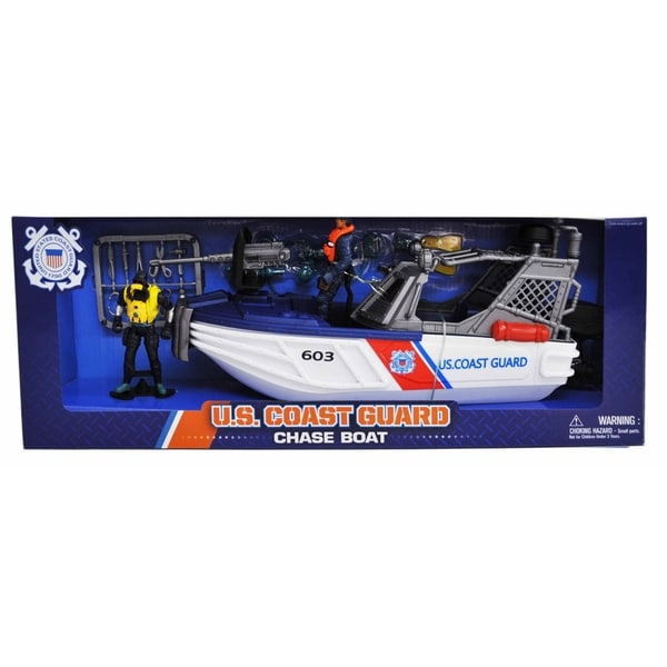 U.S. Coast Guard Chase Boat Playset w/ Figures 28552446
