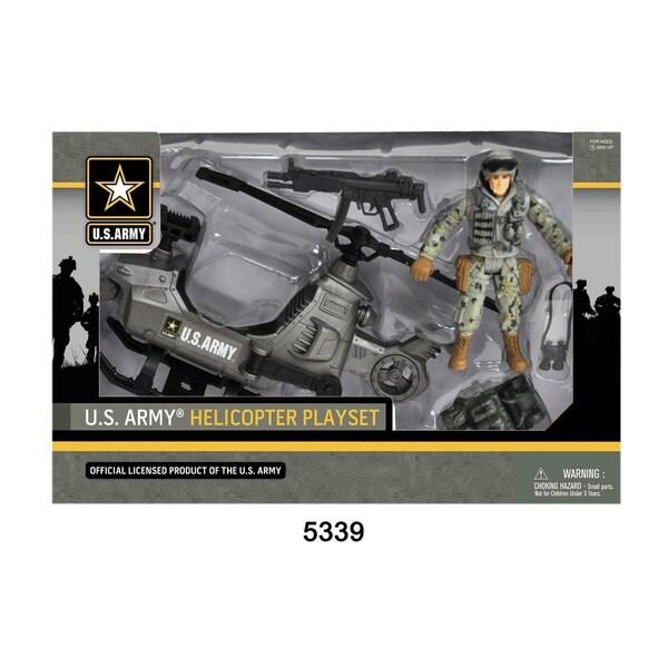 U.S. Army Figure Playset w/ Helicopter 28552504