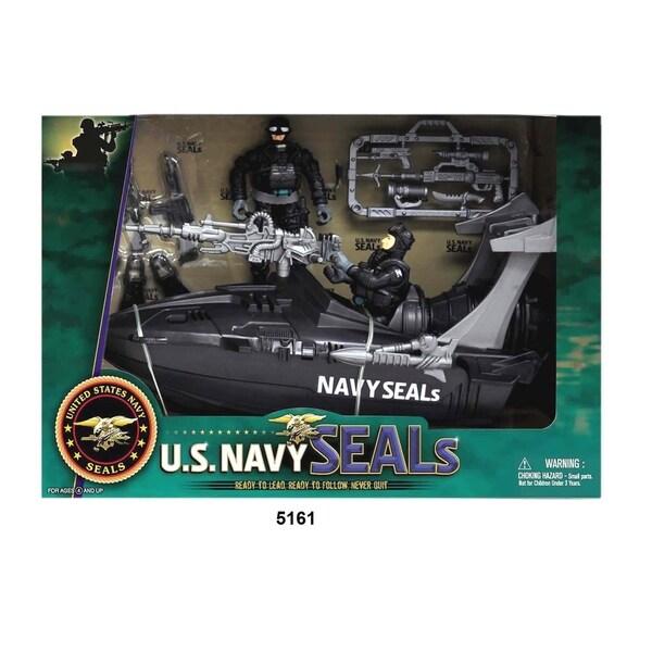 U.S. Navy Seals Figure Playset w/ Speedboat 28552508