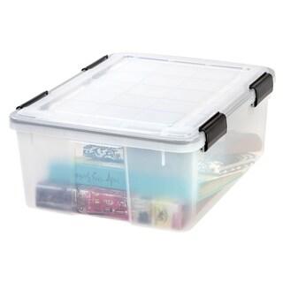IRIS 30 qt. Weathertight Plastic Storage Bin (Pack of 6) - 30 qt.