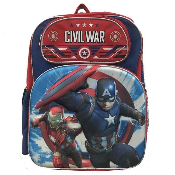 Avengers Captain America Civil War 3D 16-Inch Backpack 28576323