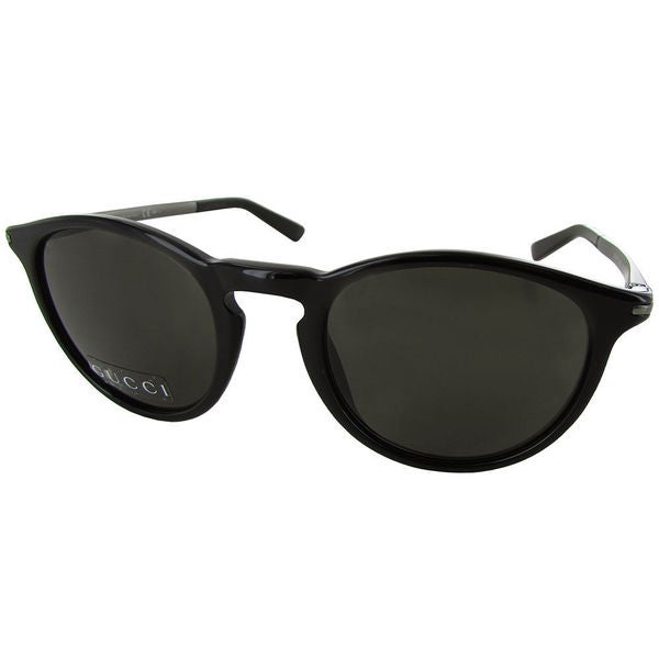 Gucci Men's GG1110/S Round Fashion Black Lens Sunglasses 28576367