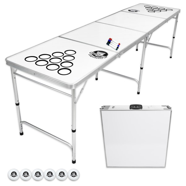 GoPong 8-foot Folding Beer Pong Table With Customizable Dry Erase Surface 28577710