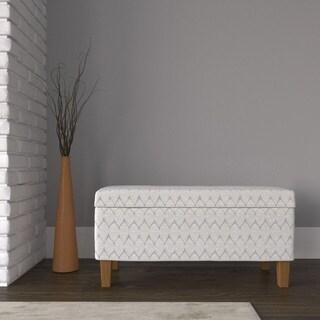 Porch & Den Harmar Large Textured Storage Bench