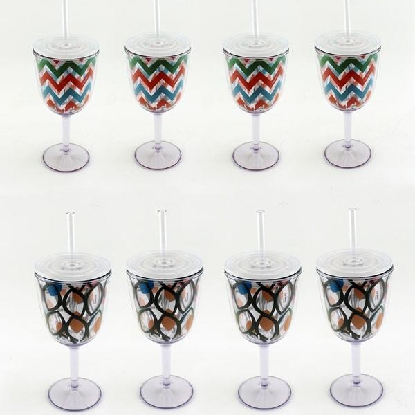 Acrylic 8pc Glass Set 28580121