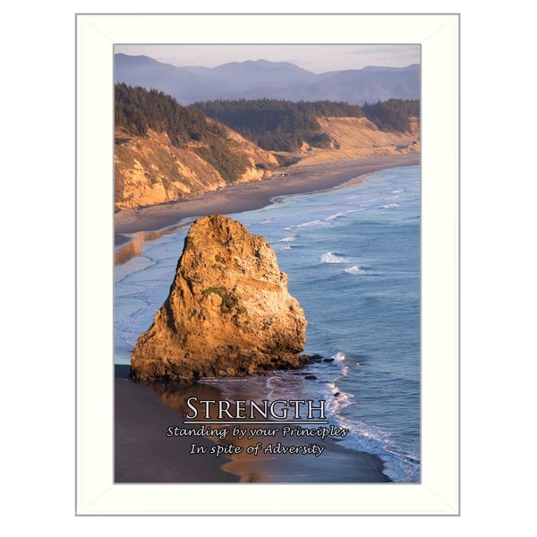 """Strength"" By Trendy Decor4U, Printed Wall Art, Ready To Hang Framed Poster, White Frame 28604656"