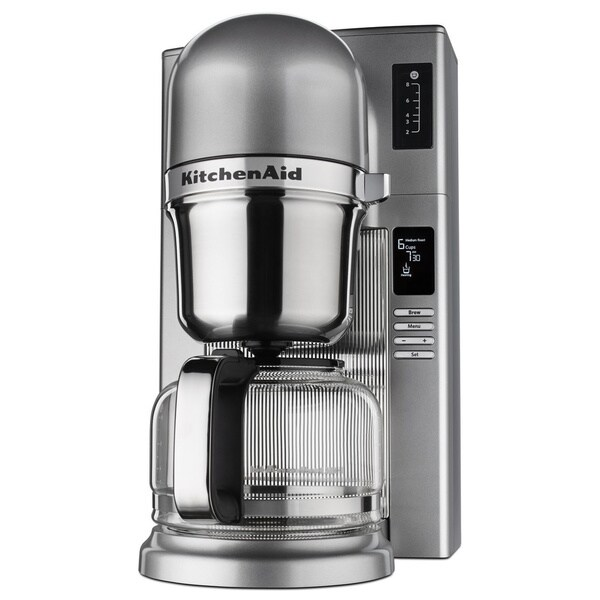 KitchenAid Custom Pour Over 8 Cup Coffee Maker, Contour Silver 28611604