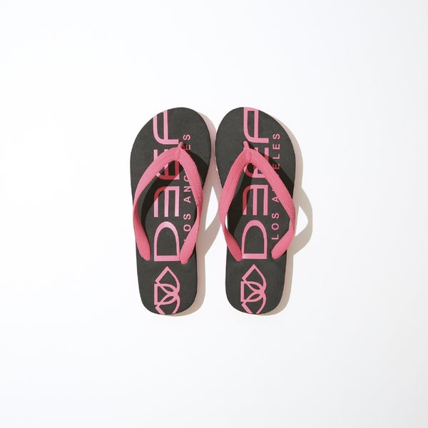 Deep Lifestyles Pink/ Black Women Summer Sandals Comfort Casual Thong Flat Slipper Flip Flops Flip-Flop Flipflops Shoes 28615158