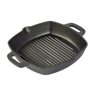 "10"" Square grill pan with two side handles"