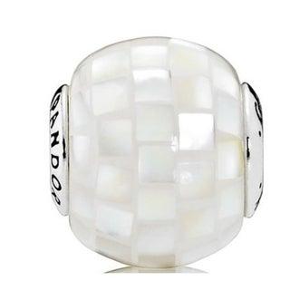 Pandora GENEROSITY White Mother-of-Pearl Mosaic Charm - 796079MMW 28631528