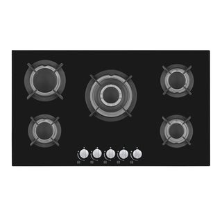 Empava 34 inch Gas Cooktop with Tempered Glass 5 Sabaf Burners Stove 5L90A