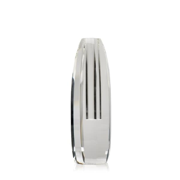 "8"" Tall Crystal Glass Vase, Beveled Design 28653362"