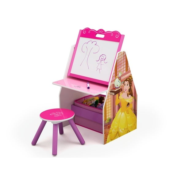 Disney Princess Activity Center - Easel Desk with Stool & Toy Organizer - Multi 28661018