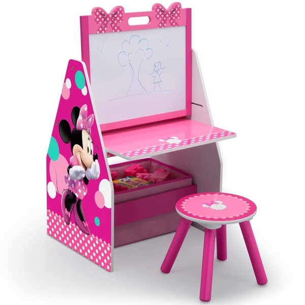 Disney Minnie Mouse Activity Center - Easel Desk with Stool & Toy Organizer - Multi 28661049