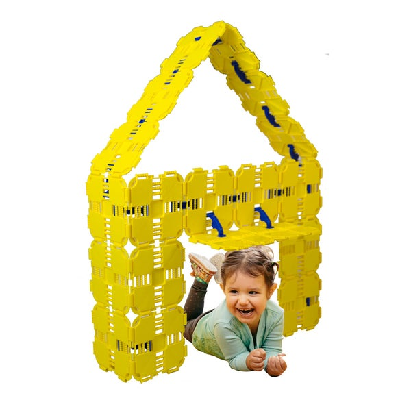 Fort Boards Yellow Kids' Building Toy Starter Pack 28662348