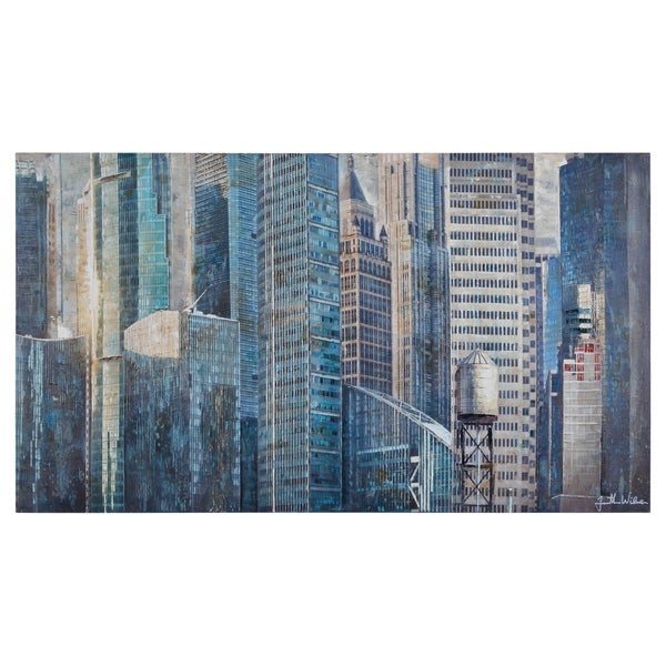 Renwil Dallas Unframed Rectangle Canvas Painting 28670286