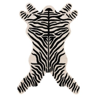 Hand-tufted Zebra-cut Wool Rug (5' x 8')