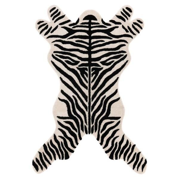 Hand-tufted Zebra-cut Wool Rug (5' x 8')