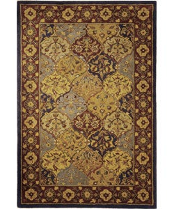 Safavieh Handmade Heritage Bakhtiari Multi/ Navy Wool Rug (5' x 8')