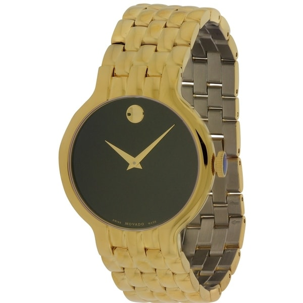 Movado Veturi Goldplated Stainless Steel Mens Watch 0606934 28691318