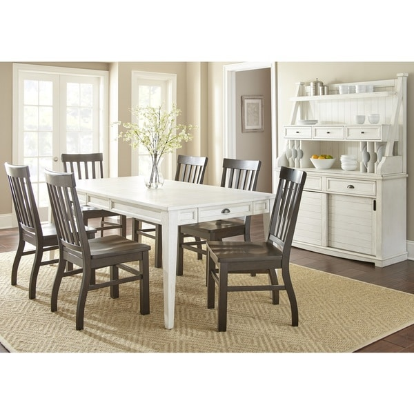 Cottonville Antique White Farmhouse Dining Set With Chairs  by Greyson Living 28698064