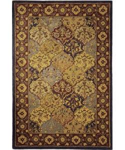 Safavieh Handmade Heritage Bakhtiari Multi/ Navy Wool Rug (6' x 9')