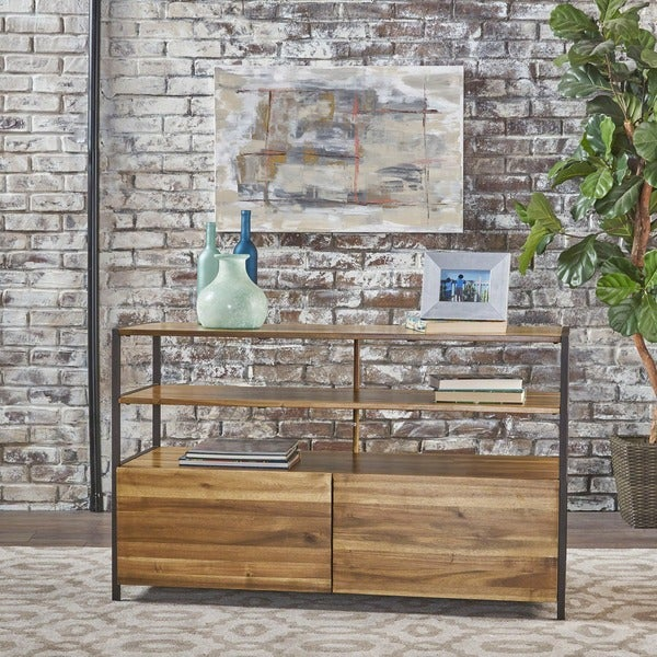 Flossie Acacia Wood Rustic Cabinet by Christopher Knight Home 28702459