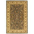 Safavieh Handmade Sultanabad Charcoal Grey/ Ivory Wool Rug (4' x 6')