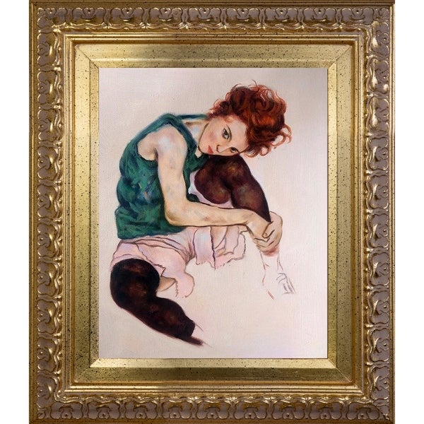 Egon Schiele 'The Artist's Wife' Hand Painted Oil Reproduction 28723040