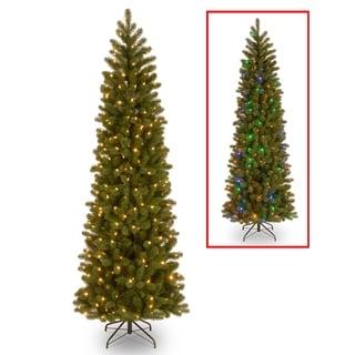 6.5 ft. Downswept Douglas Slim Fir Tree with Dual Color LED Lights - 6.5ft.