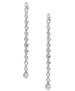 Icz Stonez Sterling Silver CZ Drop Earrings