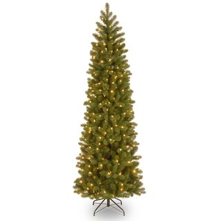 Downswept Douglas Pencil 6.5-foot Slim Fir Tree with Clear Lights