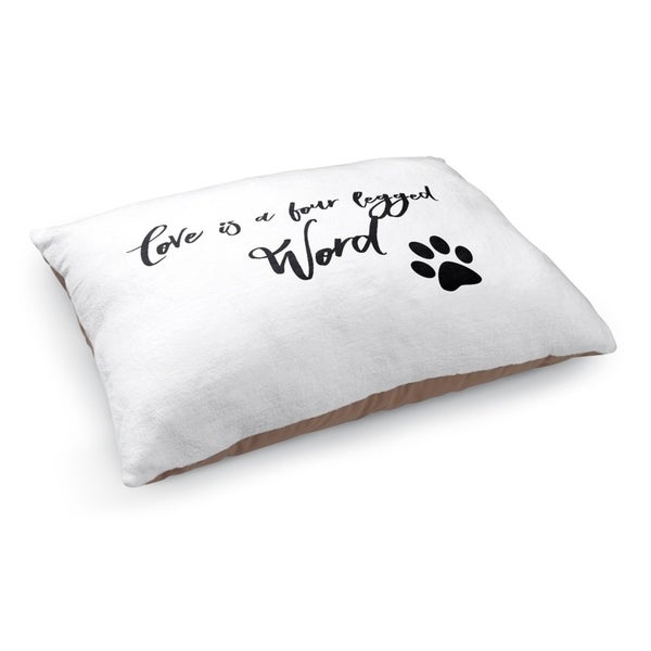 Kavka Designs Black/White Love Is A Four Legged Word Pet Bed By Terri Ellis 28746519