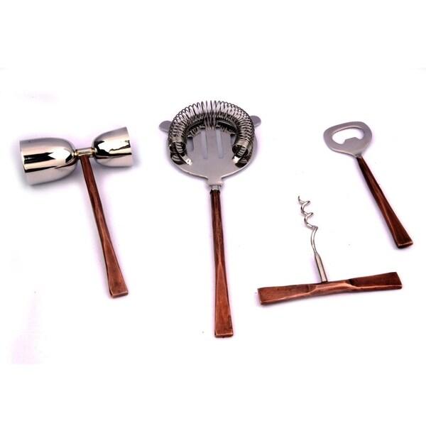 INOX Celia Design 4-piece Copper Antiq Bar Tool Set 28776618