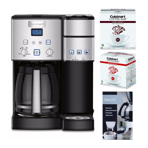 Cuisinart Coffee Center 12 Cup Coffeemaker + Dark and Medium Coffee and Descaler 28778323