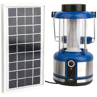 SINTECHNO SODA-803B 2-in-1 Bright LED Emergency Lantern with Built-in Power Bank Solar/AC Electric Phone Charger