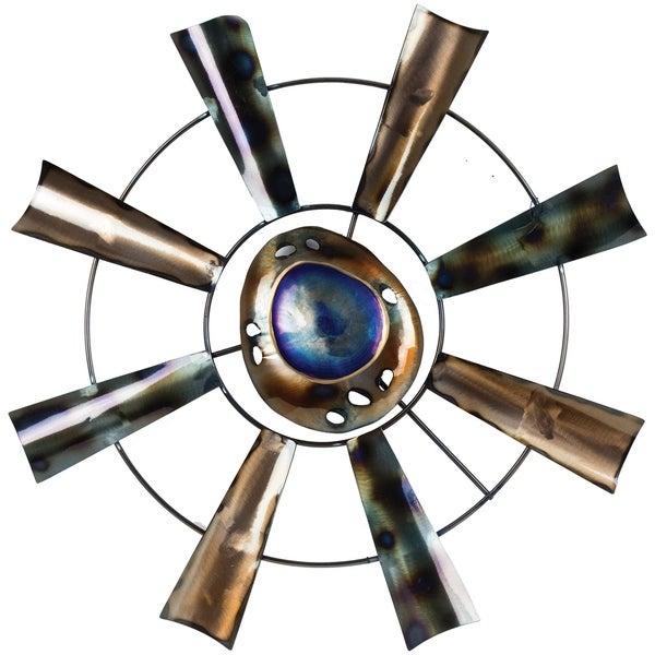 Abstract Windmill Wheel Metal Art Wall Decor 28781981