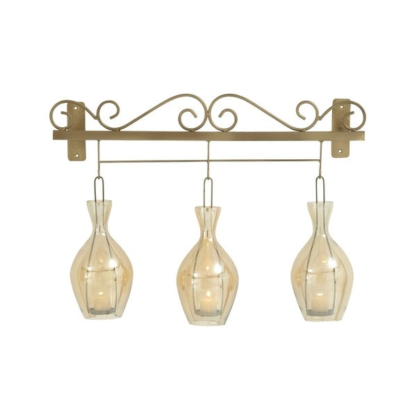 Studio 350 Metal Glass Wall Candle Holder 26 inches wide, 19 inches high 28783139
