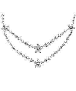 Miadora 18k Gold 5 1/3ct TDW Diamond Double Strand Necklace