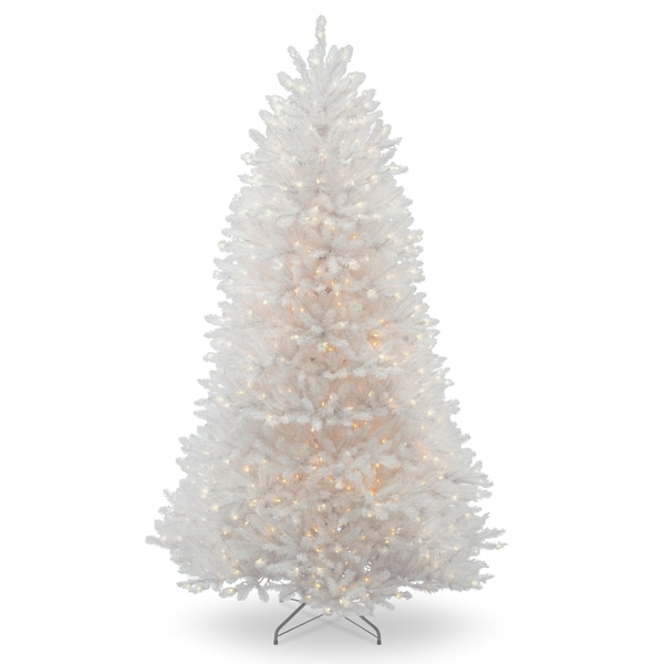 9 ft. Dunhill White Fir Tree with Clear Lights 28804247