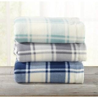 Great Bay Home Super Soft Extra Plush Plaid Fleece Bed Sheet Set