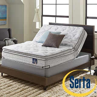 Serta Extravagant Pillowtop Twin XL-size Mattress Set with Elite Pivot Foundation