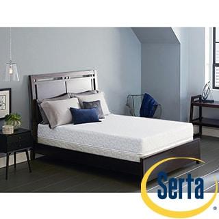Serta Lure 8-inch Split Queen-size Gel Memory Foam Mattress Set