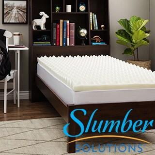 Slumber Solutions Dorm Big Bump 3-inch Memory Foam Mattress Topper